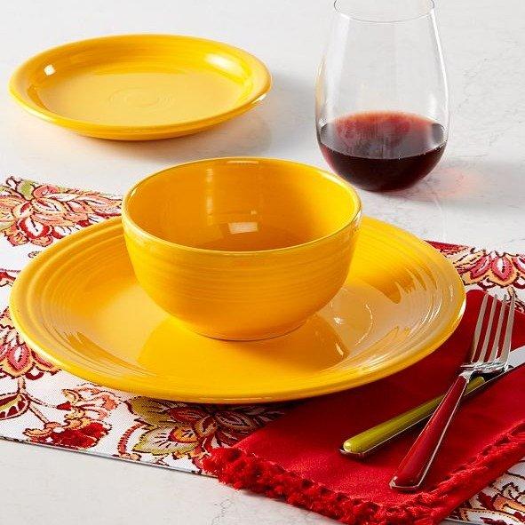 彩色餐具3件套
