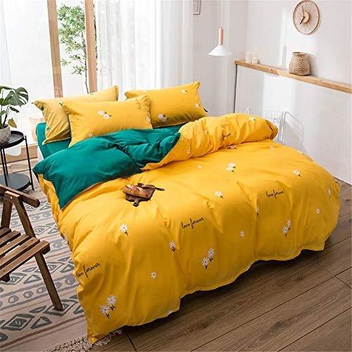 黄色小花床品3件套