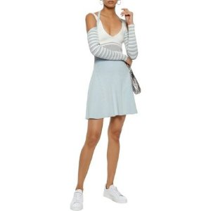 Opening CeremonyCold-shoulder striped ribbed-knit mini dress