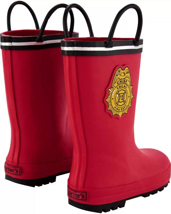 儿童消防员雨靴