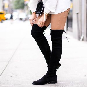 封面新款麂皮过膝靴  $478Stuart Weitzman 精选美鞋热卖 新设计小心思敲可爱