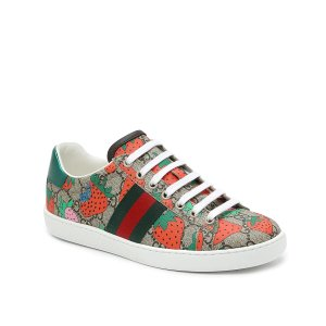 Gucci官网定价$650女士草莓运动鞋
