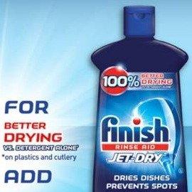 $7.51(原价$10.98)Finish Jet-Dry 洗碗机快干光洁剂 水渍无残留