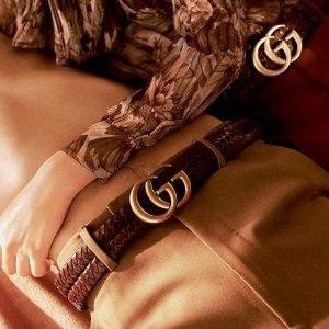 8.7折收皮带、美鞋、相机包Gucci 爆款单品折扣收扣收经典GG Marmont 皮带