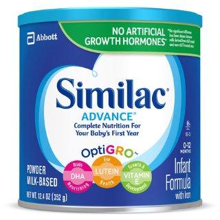 $9.99Similac Advance婴儿配方奶粉,12.4盎司/罐
