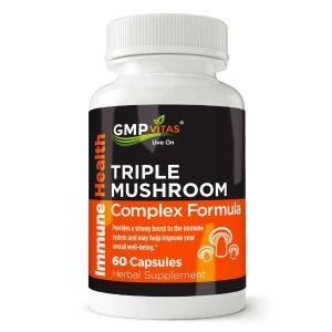 GMP Vitas® Triple Mushroom Complex Formula 60 Capsules