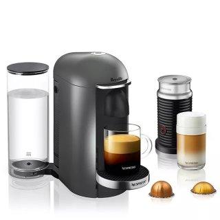 $139.99独家:Breville Nespressoe 胶囊咖啡机,配奶泡机
