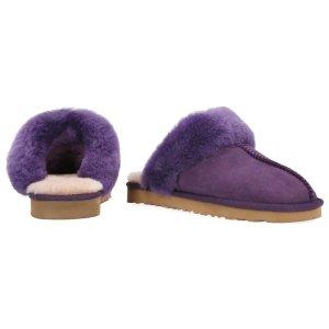 Bluestar UGG Australia紫色毛毛拖鞋