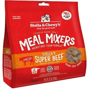 Stella & Chewy'sStella's Super Beef Meal Mixers Freeze-Dried Raw Dog Food Topper, 18-oz bag - Chewy.com