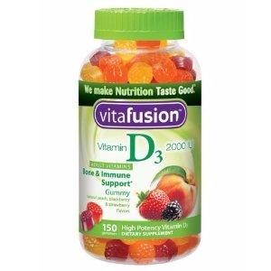 $6.04 包邮Vitafusion Vitamin D3 成人维生素营养软糖150粒