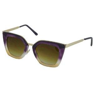 Buckle Sunglasses Crystal Purple/Orange/Brown Gradient