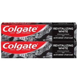 Colgate 活性炭美白牙膏 4.6oz 2支
