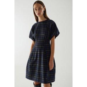 COS格纹裙