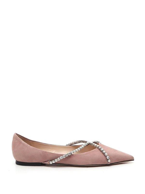 Genevi Crystal水晶绑带芭蕾单鞋