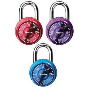 Master Lock 1533TRI Locker Lock Mini Padlock, 3 Pack
