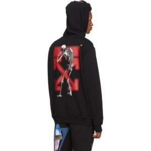 Off-WhiteBlack Undercover Edition Skeleton RVRS Arrows Hoodie