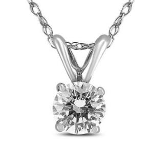 Dealmoon exclusive!3/4 Carat Diamond Solitaire Pendant in 14K White Gold (G Color, VS1-VS2 Clarity) @ Szul
