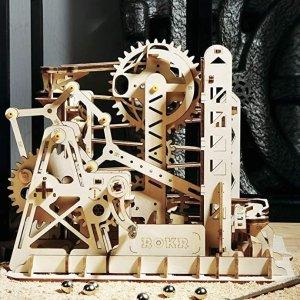 ROKR 3D 木质齿轮滚珠过山车,环环相扣