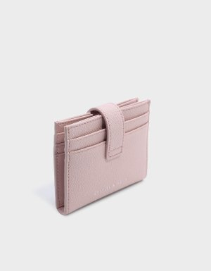 Blush Snap Button Card Holder   CHARLES & KEITH