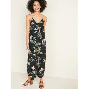 GapSleeveless V-Neck Maxi Shift Dress for Women