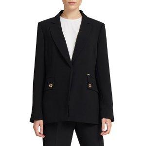 Long Grommet Button Blazer - Walmart.com