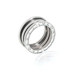 Bvlgari18k White Gold B Zero Ring Sz 10.75 AN191024-64