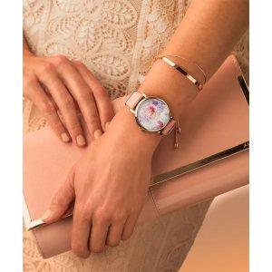 Timex施华洛世奇水晶花朵腕表