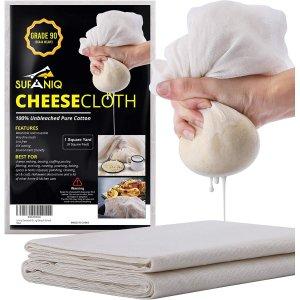 Sufaniq Cheesecloth Grade 90-9 Square Feet Unbleached 100% Cotton Fabric
