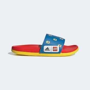 Adidas经典红黄蓝x LEGO®儿童拖鞋