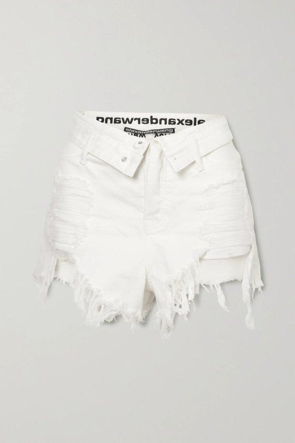Bite Flip fold-over 牛仔短裤