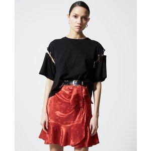 The KooplesJacquard short skirt with frills
