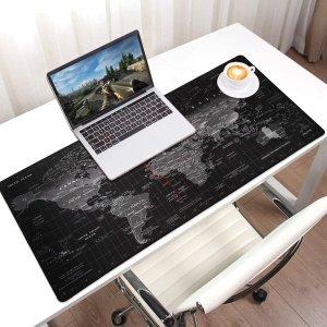 低至7.8折 €12.48收世界地图款Jialong 超大号鼠标垫热促 防水防滑设计 多种图案可选