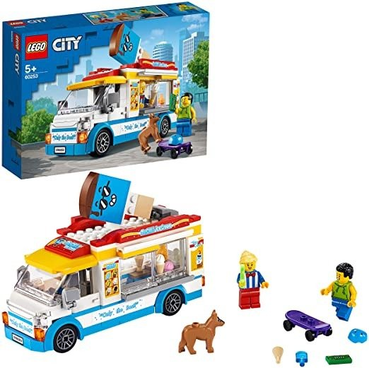 City Ice-Cream Truck 60253, Cool Building Set for Kids