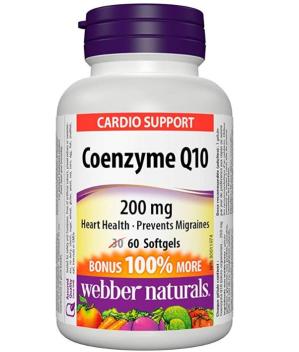 $13.84(原价$20.97) 护心佳品~Webber Naturals 辅酶Q10高效抗氧化软胶囊(200 mg) 60粒