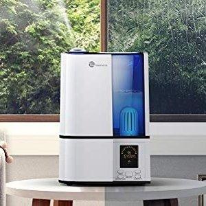 $48.74(原价$73.99)手慢无:TaoTronics 超声波冷雾家用加湿器 4升大容量