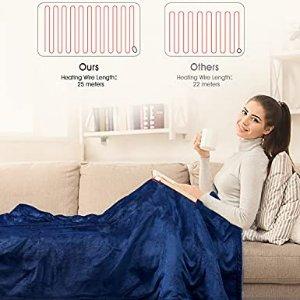 立减€10,10级调温,10分钟快速加热电热毯 180 x 130 cm