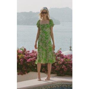Faithfull The BrandEvelyn Floral-Print Midi Dress