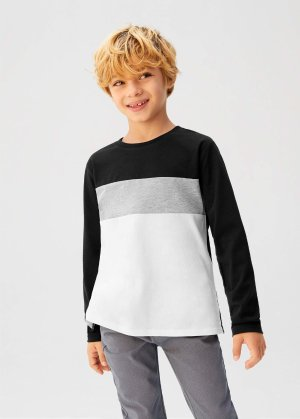 Organic cotton tricolor t-shirt -  Boys | Mango Kids USA