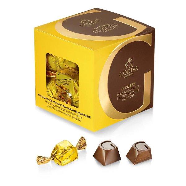 G Cube 海盐焦糖夹心牛奶巧克力 22颗装