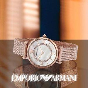 低至5.1折+额外6.7折黑五提前享:Emporio Armani 精选手表热卖 收满天星、白贝母