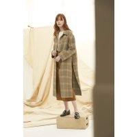Quaint Official PHIPHI 格纹羊绒大衣