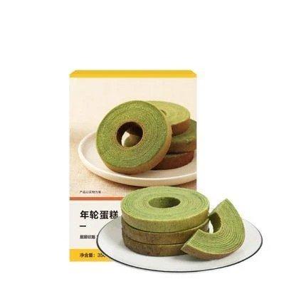 【中国直邮】年轮蛋糕 350克 (抹茶味10枚入)
