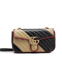 Gucci GG Marmont Quilted Stripe 新款链条包