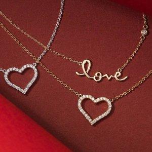 低至6折 情人节好礼 爱心元素最可爱Blue Nile 官网精选项链、戒指、耳饰等热卖