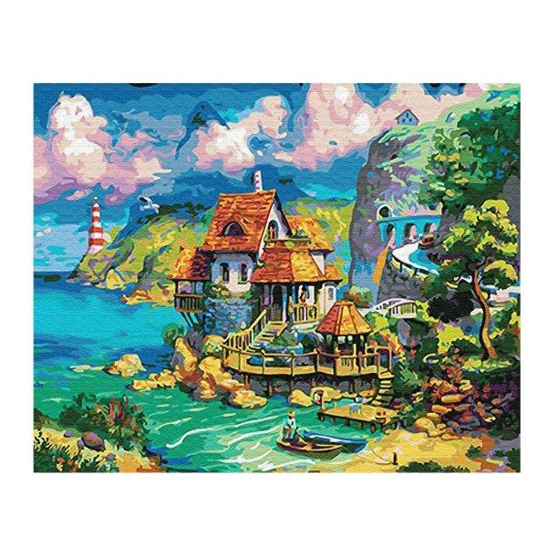 iCoostor 数字油画套装 港口小屋