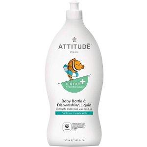 现价$3.99(原价$10.49)史低价:ATTITUDE 宝宝专用 天然洗洁精 清新梨味