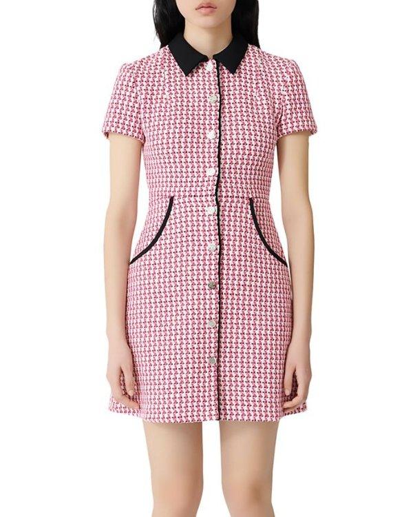 Jennie同款小香风连衣裙