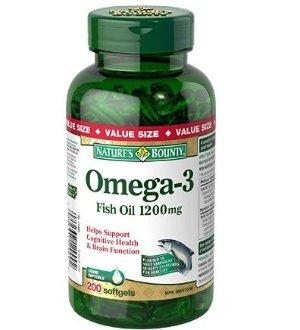 销量冠军!$16.17(原价$20.59)保健佳品 Nature's Bounty Omega-3 鱼油 1200mg 200颗