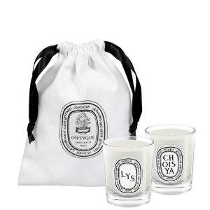 送封面蜡烛2件套!Diptyque大促!送蜡烛x2+香水中样+身体乳10g