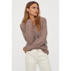 H&M35%羊毛含羊毛毛衣